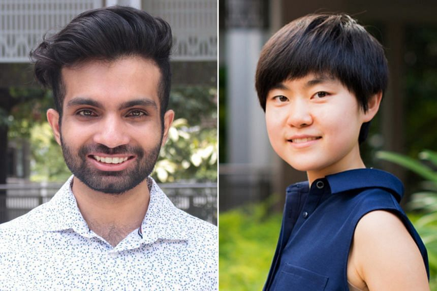 Eating Chilli Crab In The Anthropocene a new essay collection edited by Yale-NUS College assistant professor of environmental studies Matthew Schneider-Mayerson features pieces by young writers such as Fu Xiyao (right) and Yogesh Tulsi (left).