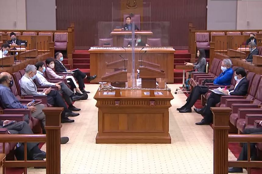 Parliament in session on June 5, 2020.
