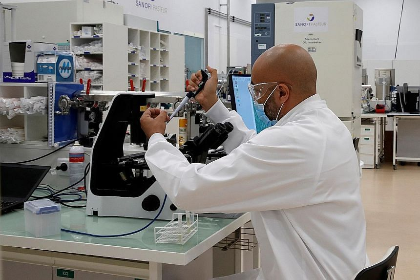 A researcher at Sanofi's vaccine unit in France last week. Sanofi expects its mRNA Covid-19 vaccine candidate to enter clinical trials by the end of the year and, if successful, gain regulatory approval in the second half of next year.