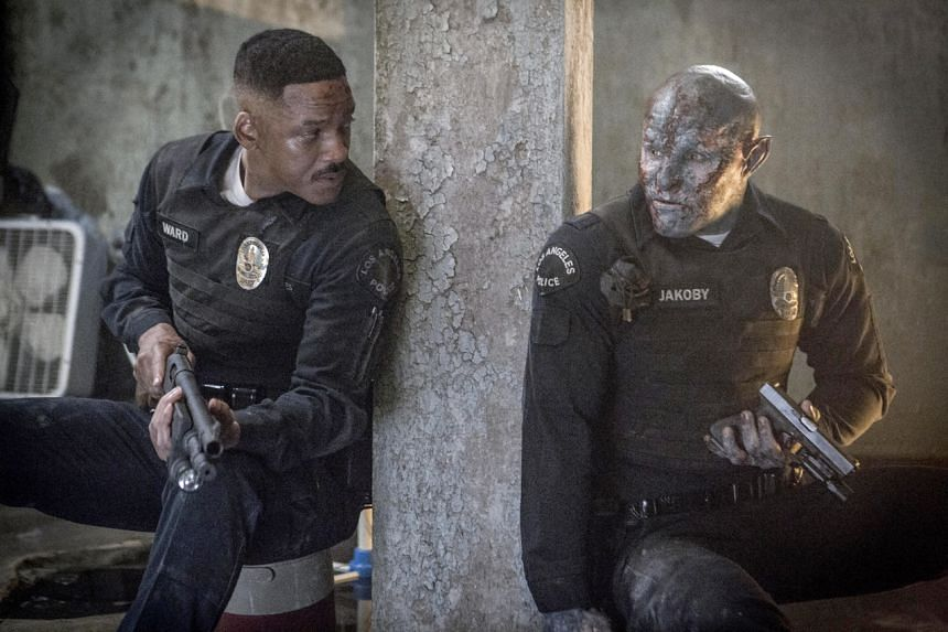 A still from the Netflix movie Bright starring Will Smith (left) and Joel Edgerton.