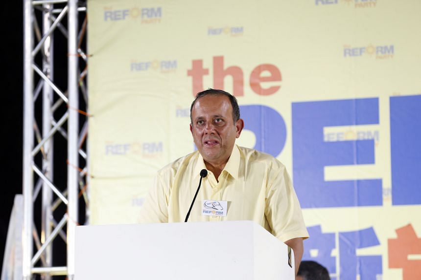 A photo taken on Sept 4, 2015, showing Reform Party chief and West Coast GRC candidate Kenneth Jeyaretnam at a rally in Yio Chu Kang Stadium.