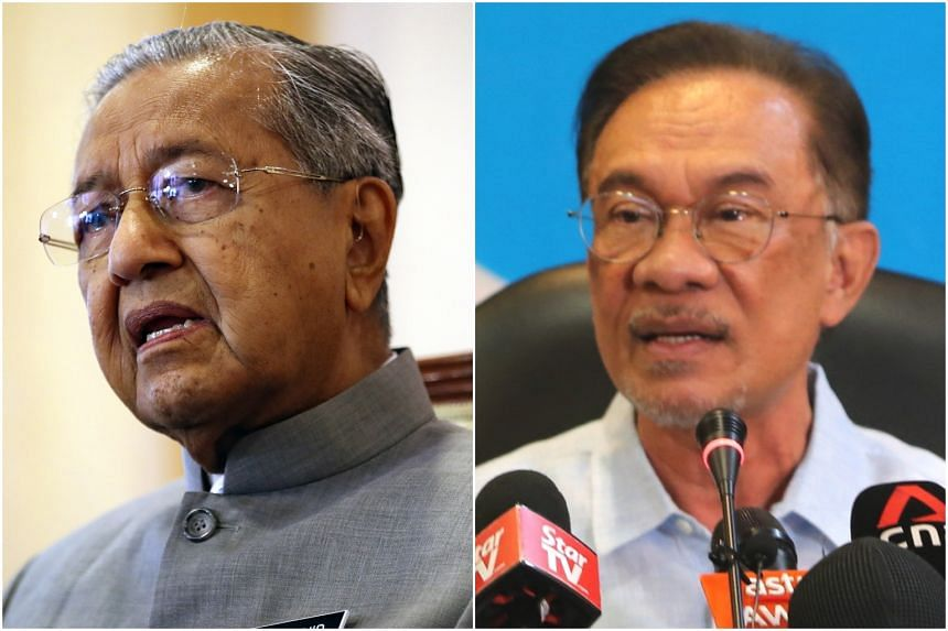 Tun Dr Mahathir Mohamad (left) is bidding to be premier while Datuk Seri Anwar Ibrahim is still awaiting his chance.