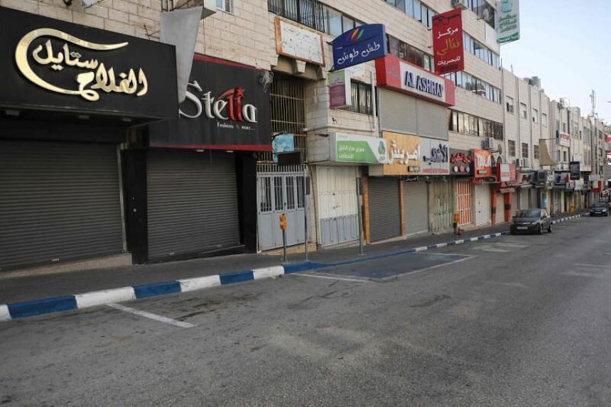 The Palestinian Authority also put the West Bank city of Hebron on lockdown.