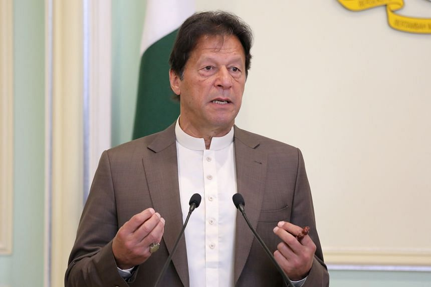 Khan (above, in February 2020) made the comment in parliament as he was describing the history of Pakistan's troubled relations with the US.