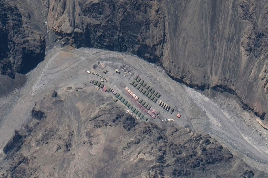 The pictures by Maxar Technologies show what appear to be extensive Chinese structures overlooking the Galwan River.