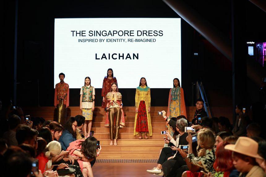 Local fashion designer Lai Chan's show at Singapore Fashion Week 2017.