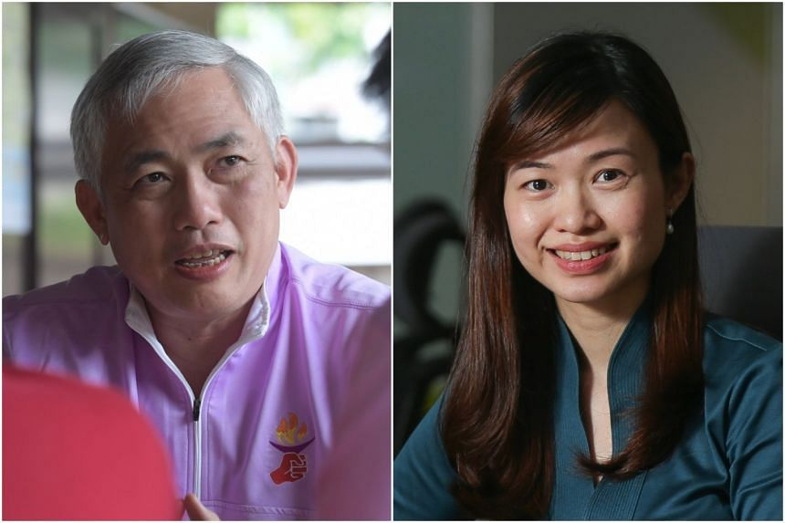 PPP secretary-general Goh Meng Seng (left) is expected to face off against the PAP's Tin Pei Ling.