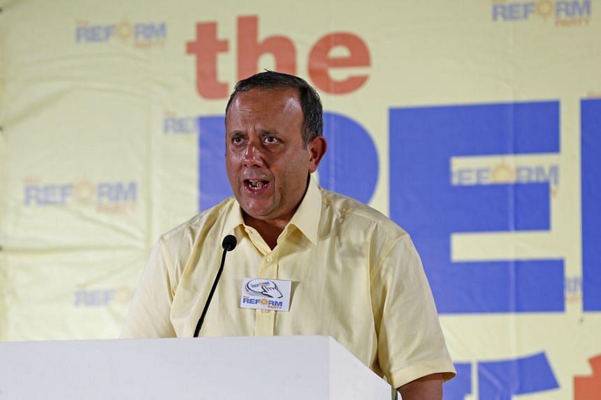 RP secretary-general Kenneth Jeyaretnam is seeking a shorter stay-home notice.