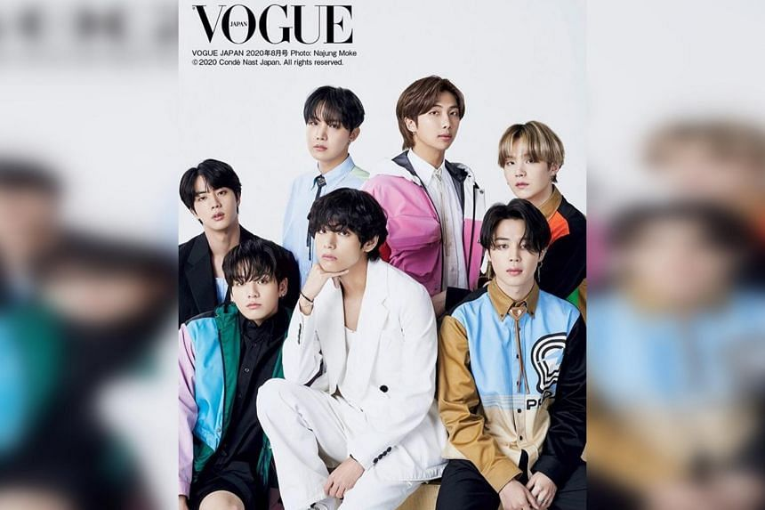 The multicoloured jacket worn by BTS member Jungkook (bottom left) was sold out in more than 25 countries.