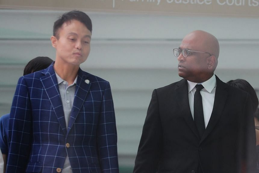 The case was filed by human rights lawyer M. Ravi (right) on behalf of Daniel De Costa, both seen here outside the State Courts on Jan 20, 2020.