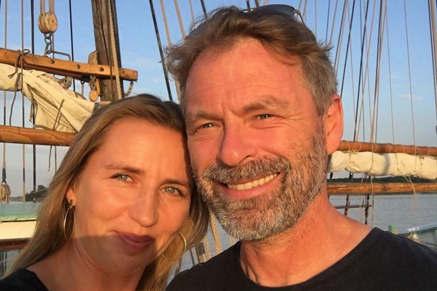 Frederiksen and fiance Bo in a photo posted on the Danish PM's Facebook page.