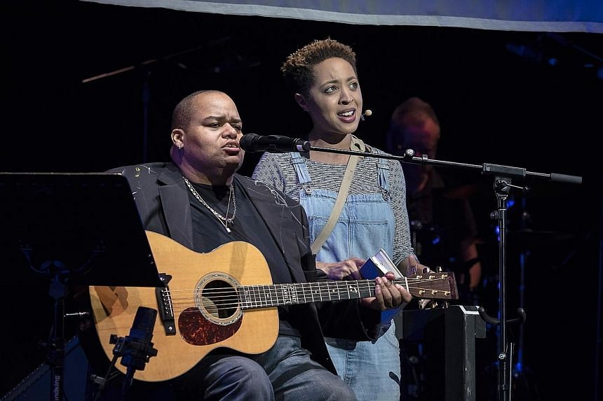 Toshi Reagon (with actress Shayna Small)