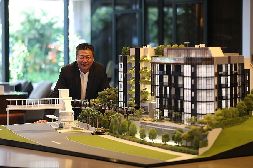 Koh Brothers managing director and group chief executive Francis Koh at the Van Holland showroom in January. The firm has sold 15 out of 69 units at the freehold luxury residence as of Wednesday. These include the 10 units moved during the condominiu