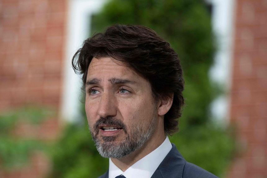 Trudeau speaking at his daily coronavirus briefing at Rideau Cottage in Ottawa, Ontario, on June 25, 2020.