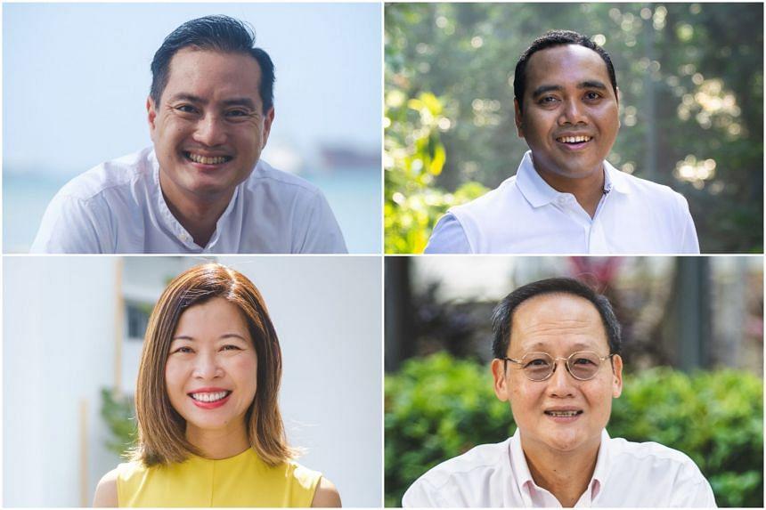 (Clockwise from top left) Mr Tan Kiat How, Mr Zhulkarnain Abdul Rahim, Dr Tan See Leng and Ms Ng Ling Ling,
