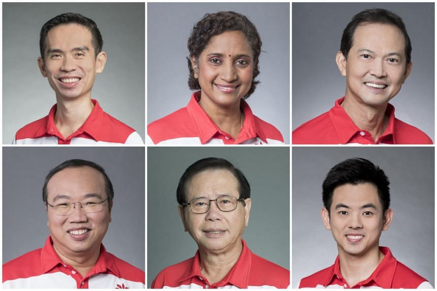 (Clockwise from top left) Mr Lim Cher Hong, Ms Kala Manickam, Mr Leong Mun Wai, Mr Terence Soon, Mr Abdul Rahman Mohamad and Mr Jeffrey Khoo Poh Tiong.