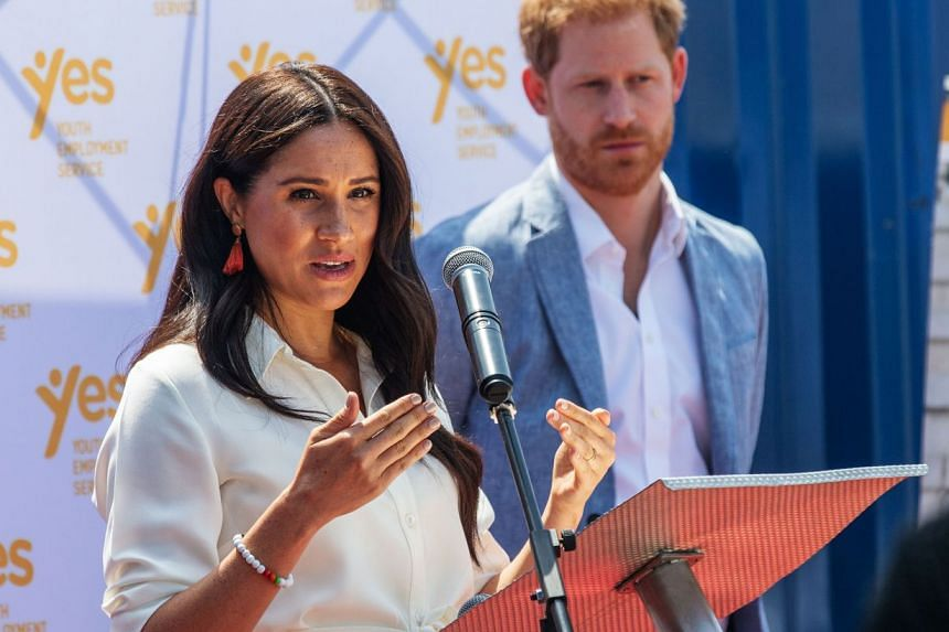 Prince Harry and Meghan (both left) will focus on issues such as racial justice, gender equity, the environment and mental health in their speaking engagements.