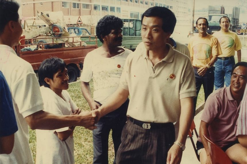 Former Workers' Party chief Low Thia Khiang thanks Hougang residents after his victory in the general election in 1991.