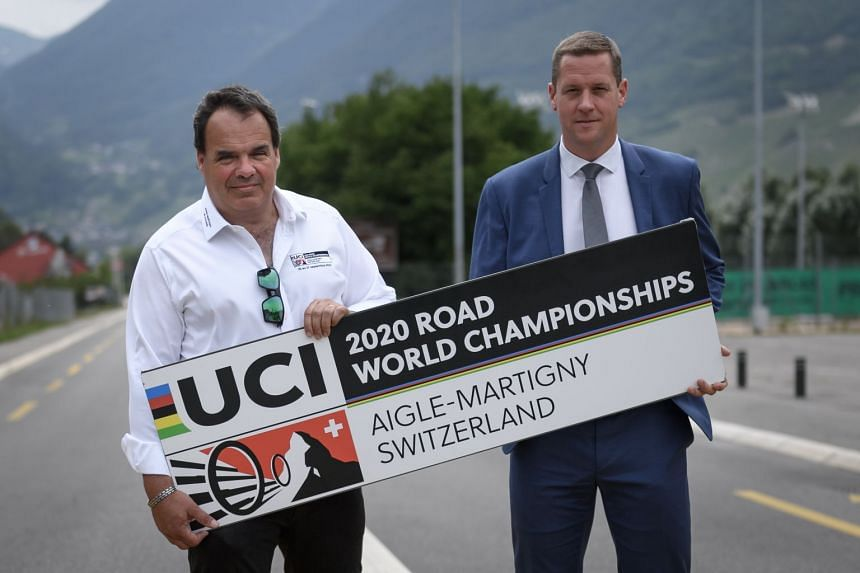 Gregory Devaud (left) and Alexandre Debons pose on June 26, 2020, in Martigny, ahead of the event.