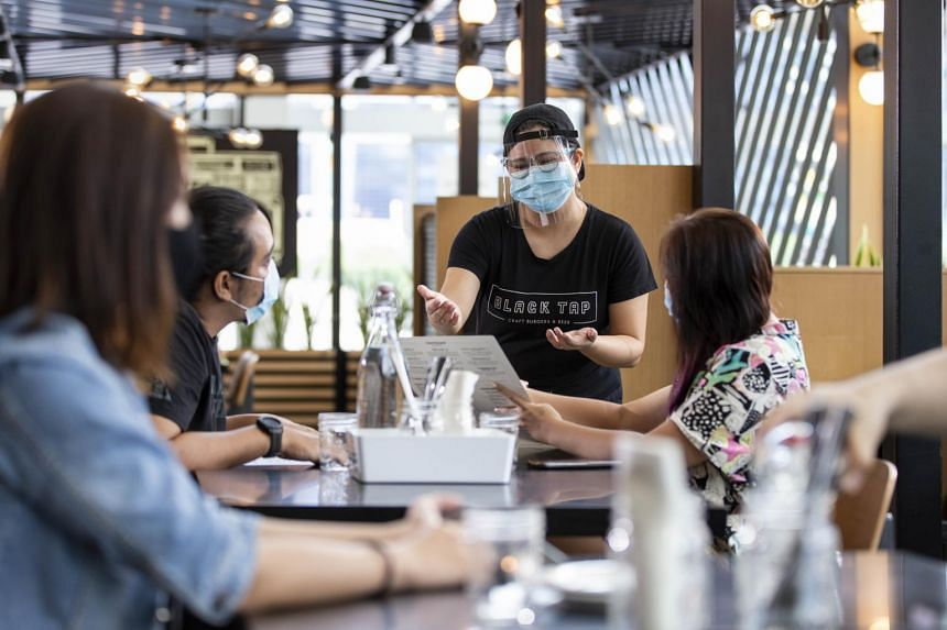At Marina Bay Sands, five restaurants have reopened, but only for its Sands Rewards members.