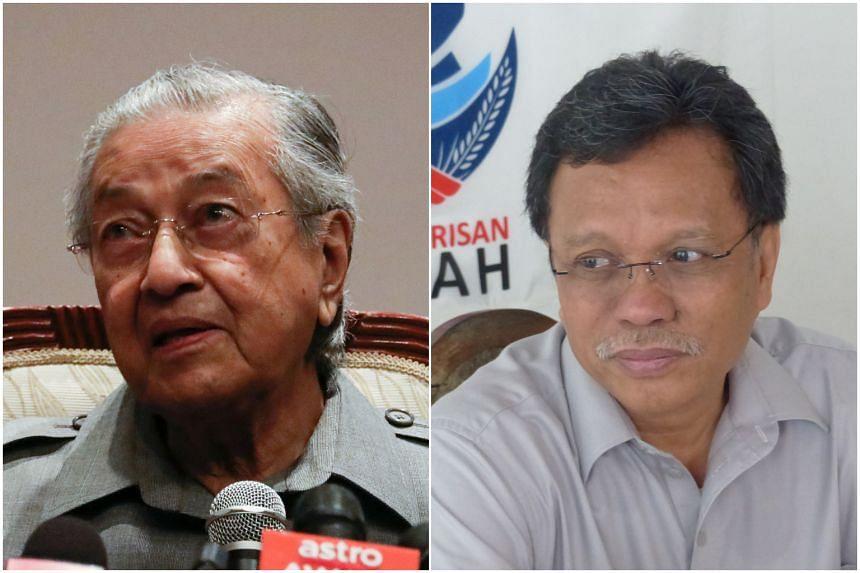 Tun Dr Mahathir (left) declared he was backing Parti Warisan Sabah leader Shafie Apdal.