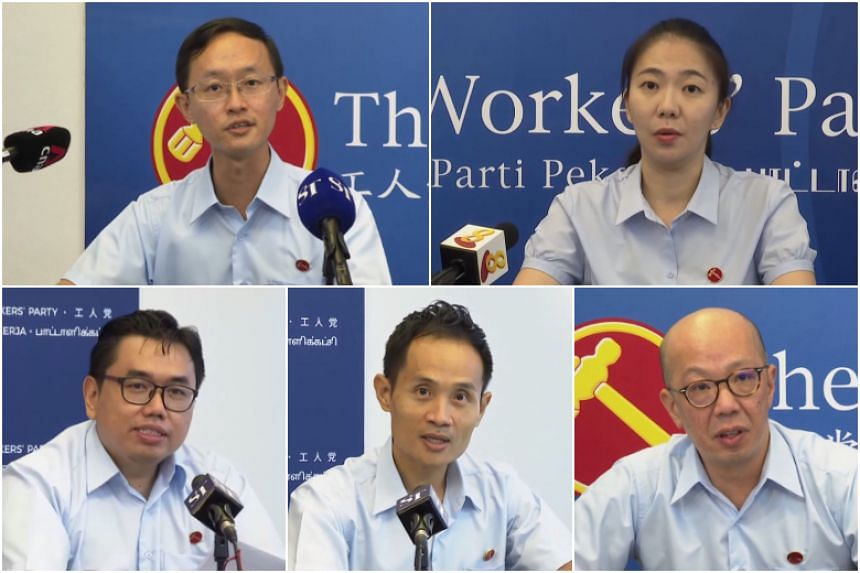 (Clockwise from top left) Mr Nathaniel Koh, Ms Tan Chen Chen, Mr Terence Tan, Mr Kenneth Foo Seck Guan and Mr Fadli Fawzi.