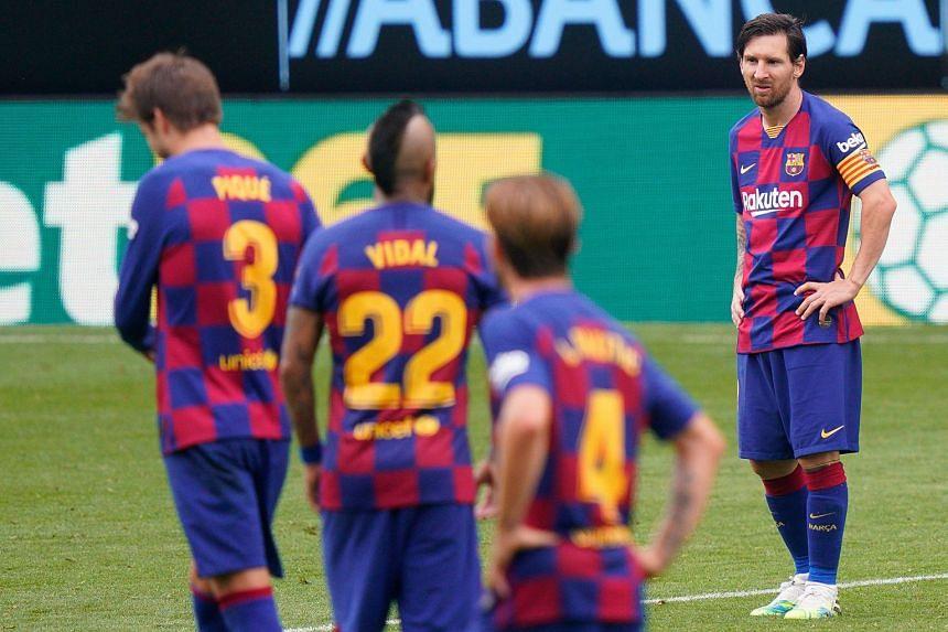 Barcelona's La Liga title hopes dented by Celta Vigo