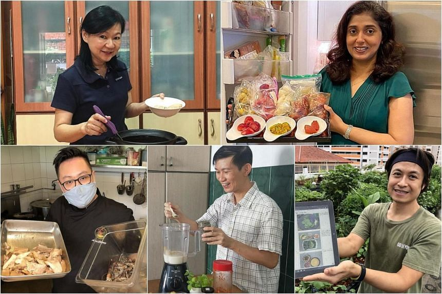 (Clockwise from top left) Housewife Jenny Tan; Ms Chitra Mirpuri, owner and director of North Indian restaurant Shahi Maharani; Mr Ong Chun Yeow, who runs a start-up that conducts programmes to raise environmental awareness; environmental educator Ta