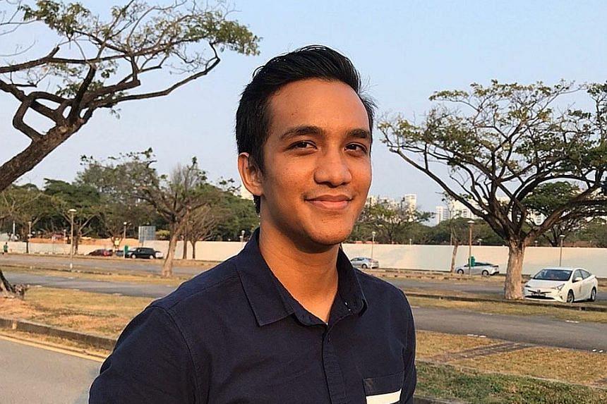National University of Singapore grad Muhammad Suhaib Mohd Seth, 24, had always dreamt of becoming an aircraft engineer. PHOTO: COURTESY OF MUHAMMAD SUHAIB MOHD SETH
