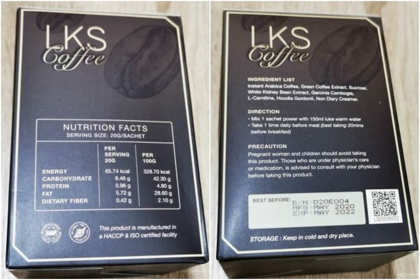 "LKS Coffee claimed to ""accelerate fat burning"", ""promote metabolism"" and ""achieve the perfect slimming effect""."