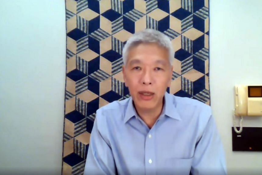 Progress Singapore Party member Lee Hsien Yang speaking in a video message posted on Facebook on June 29, 2020.