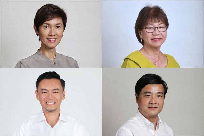 (Clockwise from top left) Manpower Minister Josephine Teo, Ms Denise Phua, Mr Heng Chee How and Dr Wan Rizal Wan Zakariah.