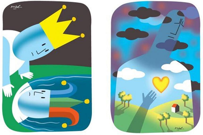 Graphics for Memories Are Water Shaped As Stories by Fairoz Ahmad (left) and Let The Morning In by Felix Cheong (right).