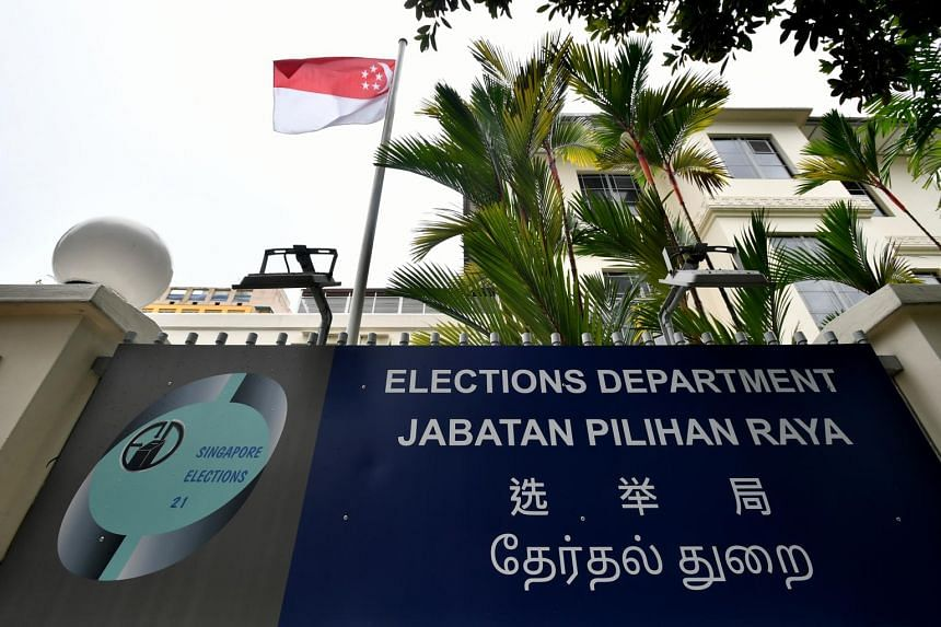The facade of the Elections Department.