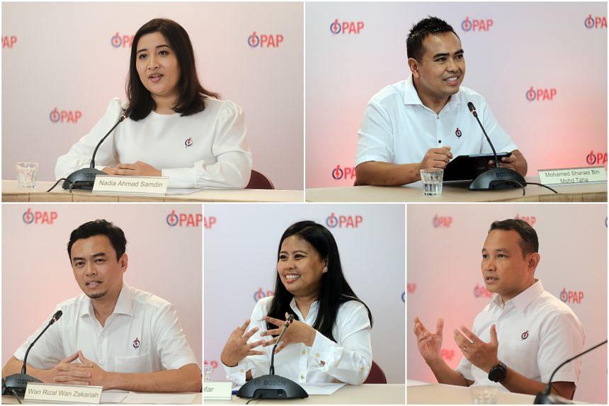 (Clockwise from top left) Ms Nadia Ahmad Samdin, Mr Sharael Taha, Mr Mohd Fahmi Aliman, Ms Mariam Jaafar and Dr Wan Rizal Wan Zakariah.