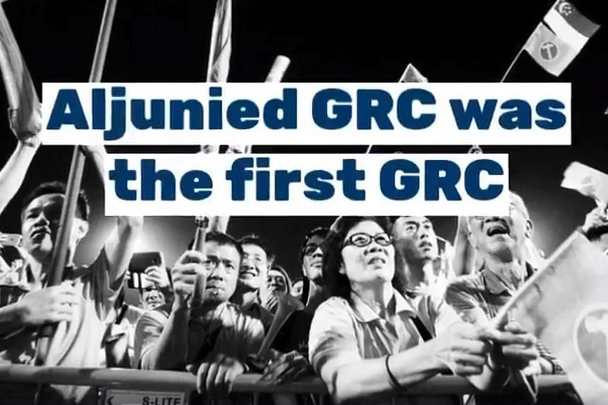 The three video clips, each less than two minutes long, highlight the Workers' Party's history and involvement in (from left) Aljunied GRC and Hougang SMC - constituencies held by the party - as well as East Coast GRC. The clips on Hougang SMC and Al