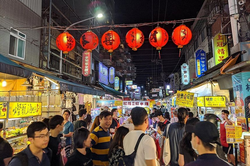 Taiwanese at the Tonghua Night Market in Taipei last month, amid the Covid-19 outbreak. After months of staying at home, people have turned to domestic travel and outdoor sports with a vengeance. While business has picked up slightly since last month