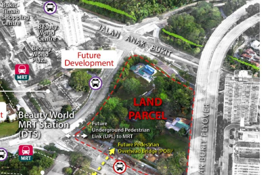 The 3.2 hectare site in Upper Bukit Timah can yield 865 private housing units.