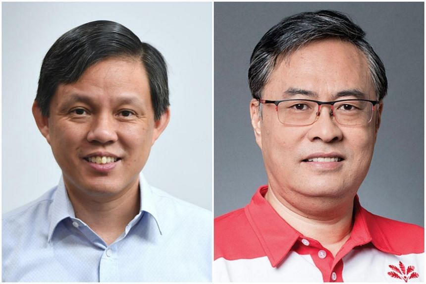 The PAP slate is led by Mr Chan Chun Sing (left) while Mr Michael Chua helms the PSP team.