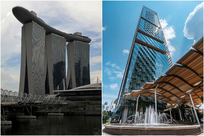 There will be four stations at Marina Bay Sands and one at JW Marriott.