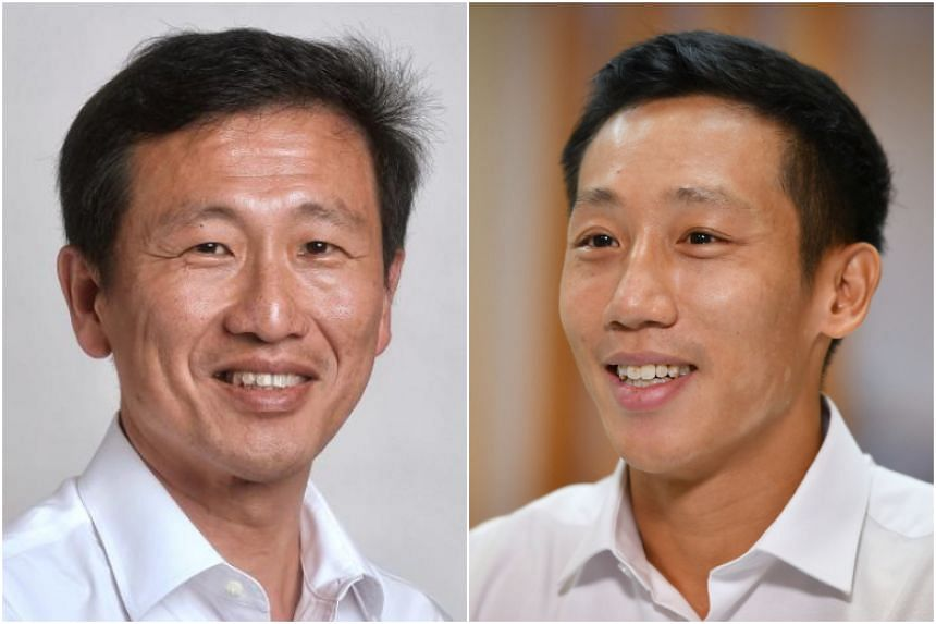 Education Minister Ong Ye Kung (left) and PAP new face Xie Yao Quan are cousins.