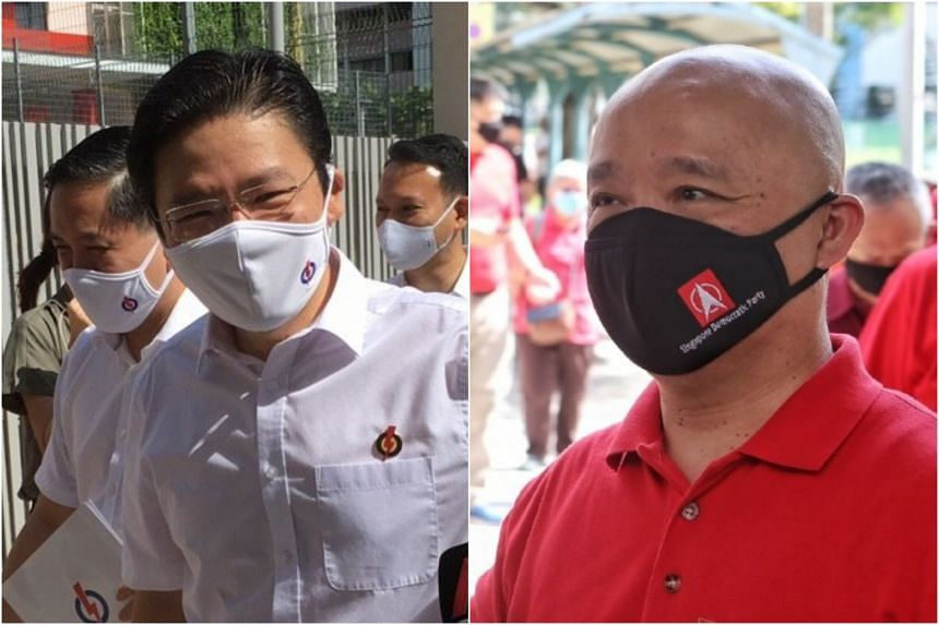 The PAP's Lawrence Wong (left) and the SDP's  Benjamin Pwee are set to face off at the Marsiling-Yew Tee GRC.