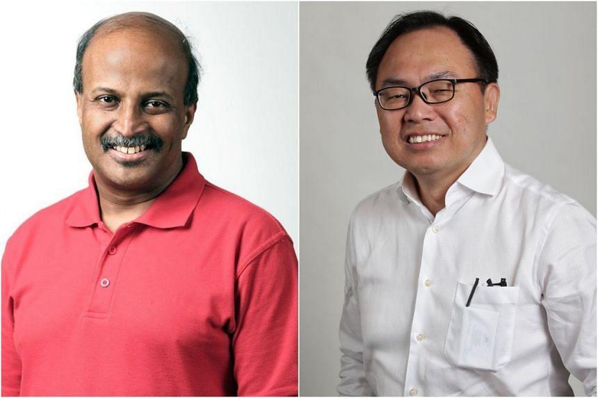 SDP chairman Paul Tambyah (left) will face PAP's Liang Eng Hwa in Bukit Panjang SMC.