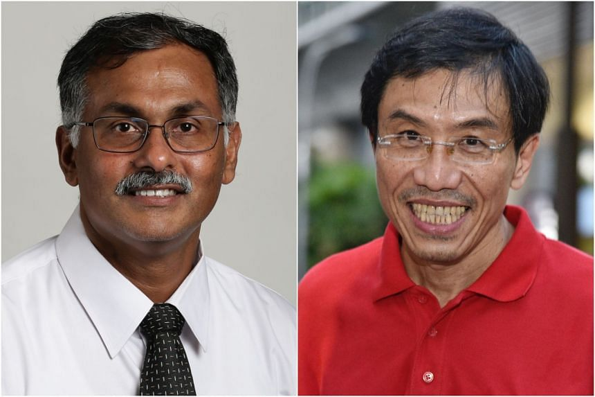 PAP's Murali Pillai (left) and SDP's Chee Soon Juan were announced as candidates for their respective parties for Bukit Batok SMC.