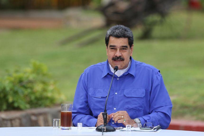 Venezuela's President Nicolas Maduro speaks at an event in Caracas, Venezuela, on June 22, 2020.