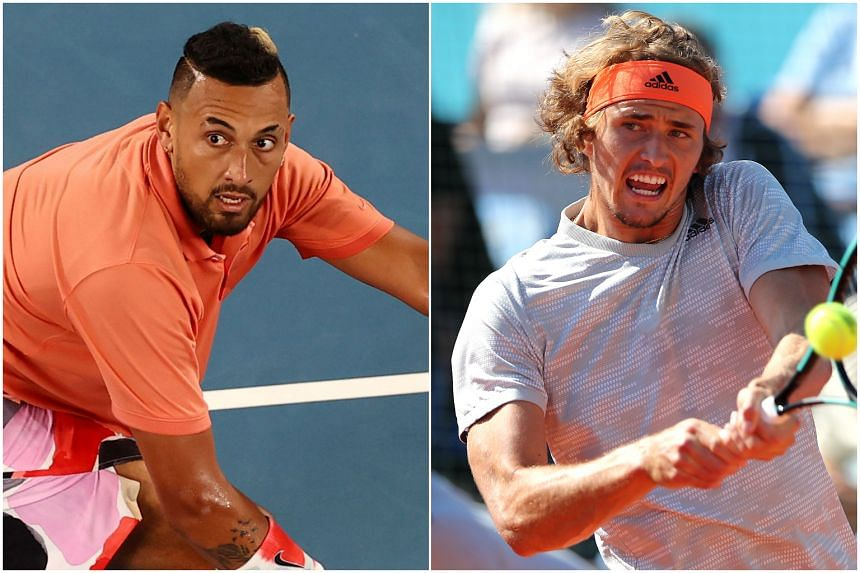 Nick Kyrgios (left) hit out at Alexander Zverev in an Instagram post.