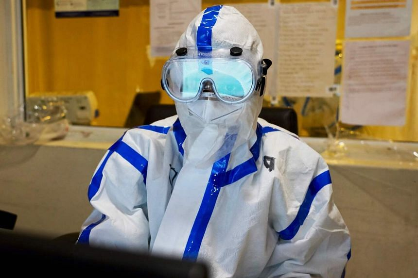 A medical worker wearing personal protective equipment at a hospital in New Delhi, on June 9, 2020.