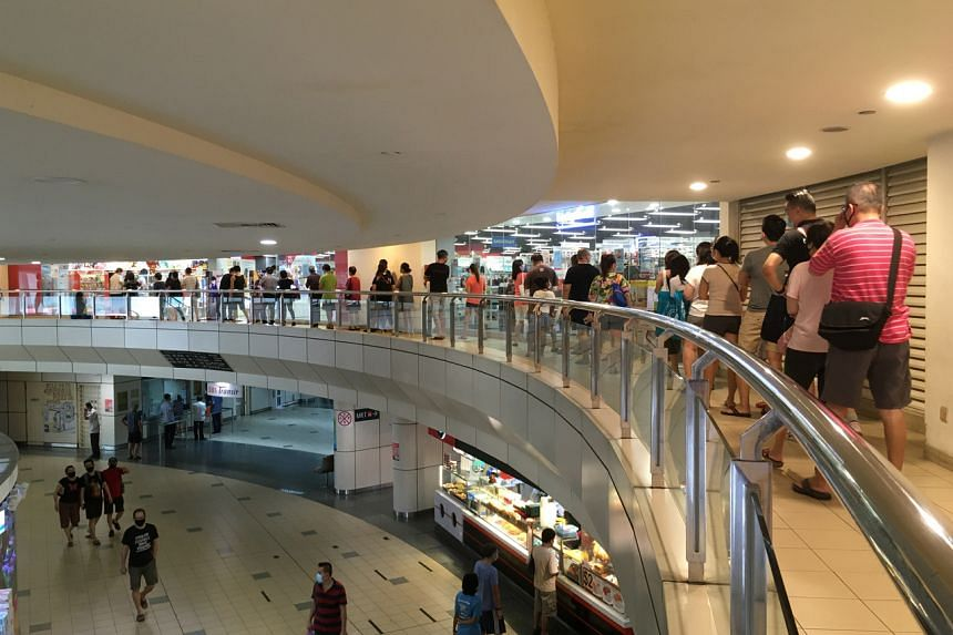A queue at the Popular bookstore at Toa Payoh Central, on June 27, 2020.