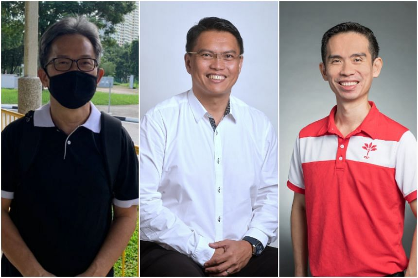 Independent candidate Cheang Peng Wah, two-term PAP MP Patrick Tay, PSP's Lim Cher Hong and are running in Pioneer SMC.