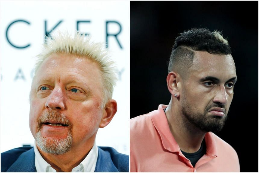 Boris Becker took umbrage with Nick Kyrgios' comment over viral footage of Alexander Zverev partying.